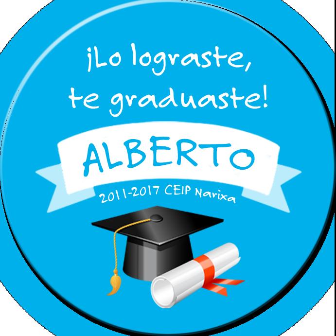 Chapa de Graduación Azul
