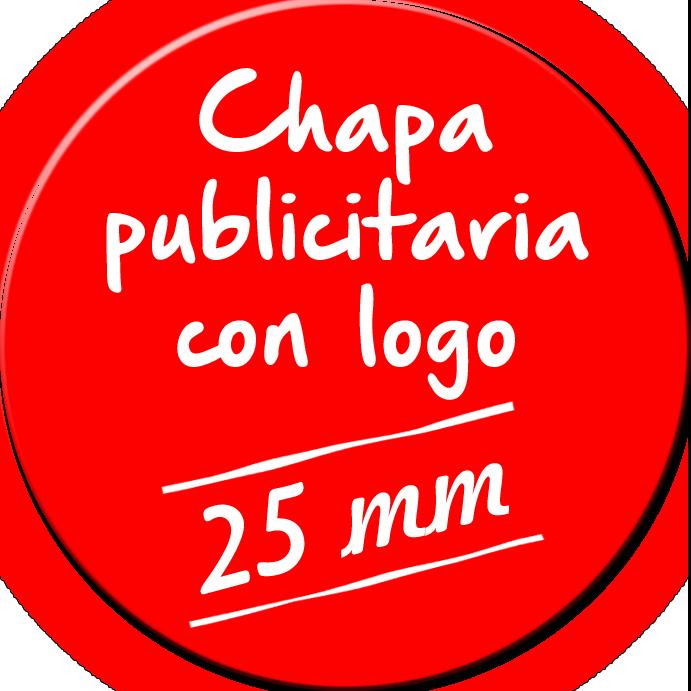 Chapa publicitaria de 25 mm