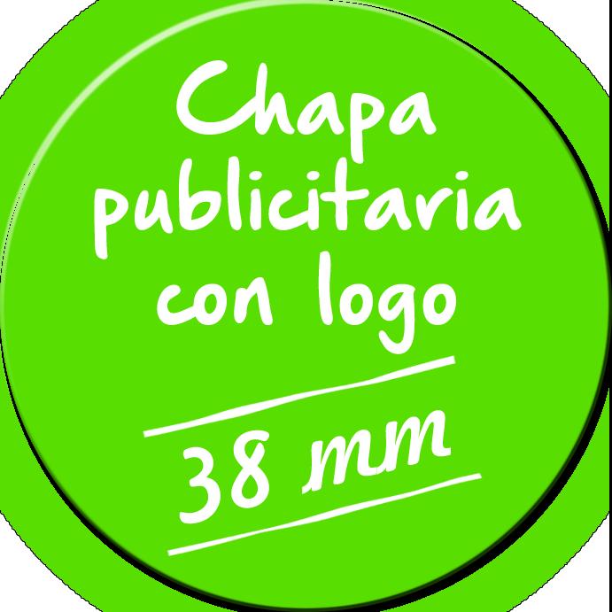Chapa publicitaria de 38 mm