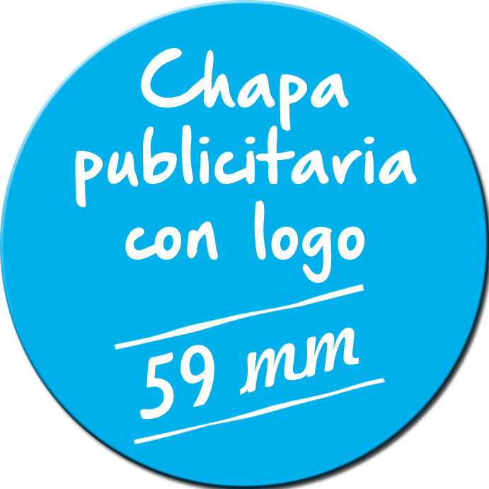 Chapa publicitaria de 59 mm