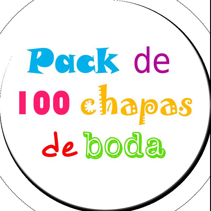 Pack 100 Chapas