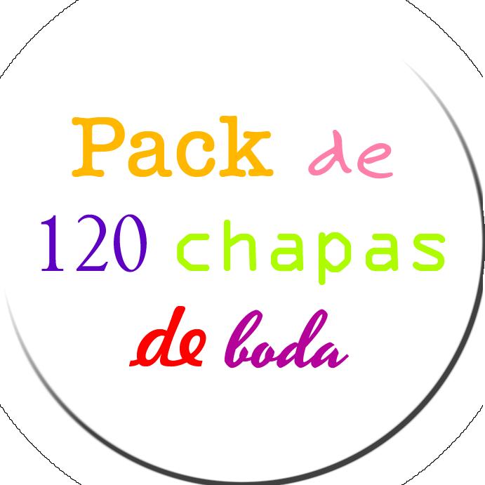 Pack 120 Chapas