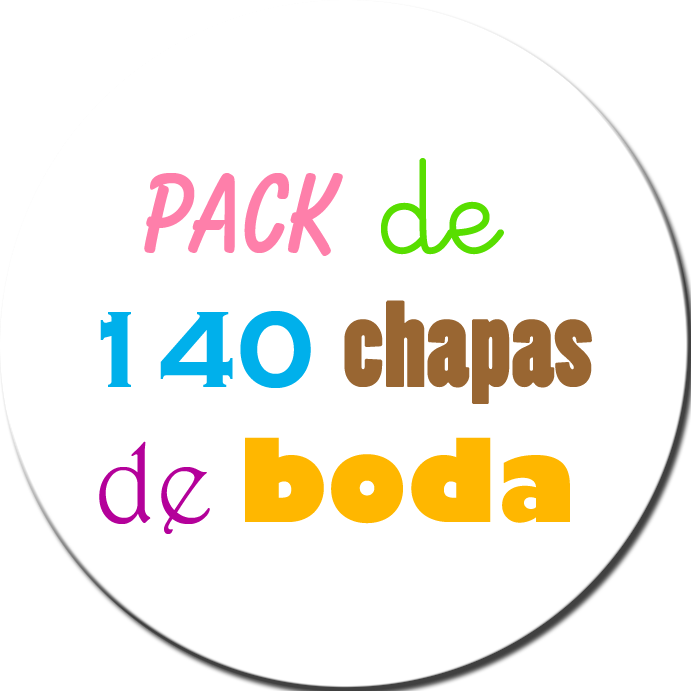 Pack 140 Chapas