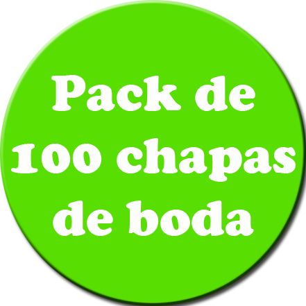 Pack 100 Chapas color