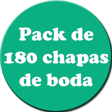 Pack 180 Chapas color