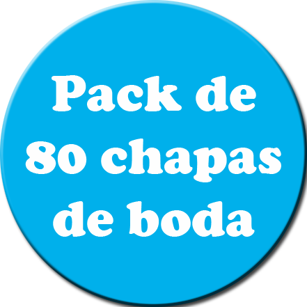 Pack 80 Chapas color